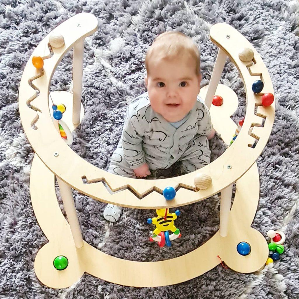 hess wooden baby walker