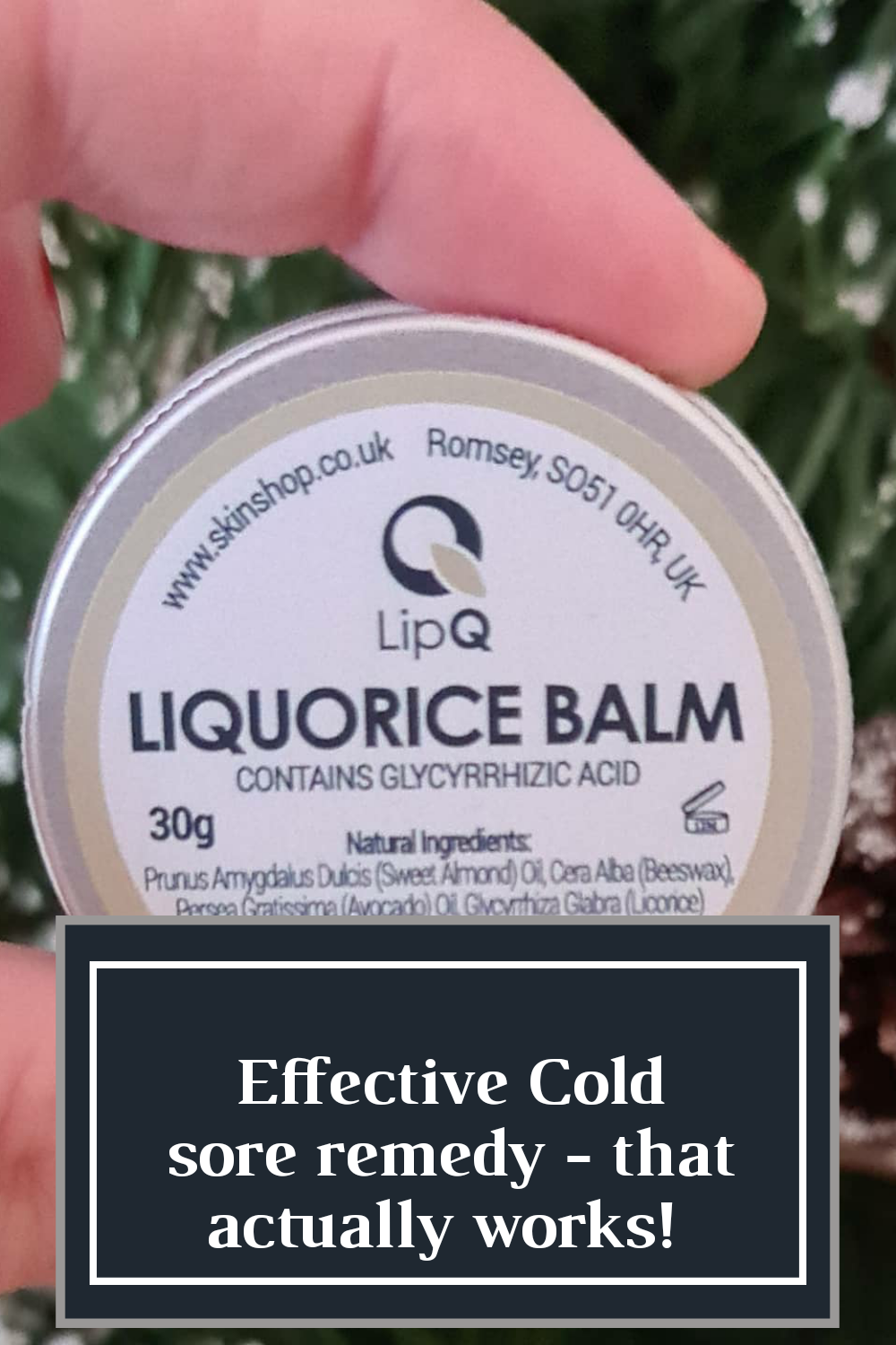 effective cold sore remedy