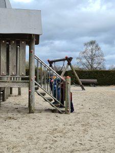 Craigtoun Park, toddler Climbing Frame